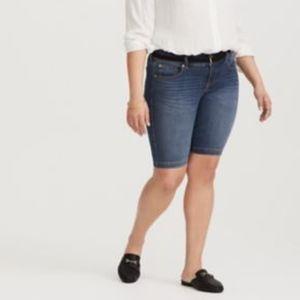 Torrid Dark Wash Bermuda Jean Shorts 22
